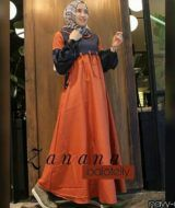 Zanana dress navy coral