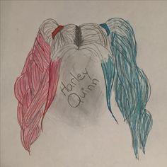 Harley Quinn. Didn't feel like doing face but still love drawings of hair. my art