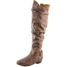 Save 10% + Free Shipping Offer * | Coupon Code: Pinterest10 Material: Man Made Leather Material. True to size, Over Knee High Boots Shaft Height is about 19-21 inches ~about 14-15 inches opening 1 inch heel, Product Code: Firenze-6a Black Color Women's Qupid Firenze-6A Cognac Color Over Knee Flat Heel Collection