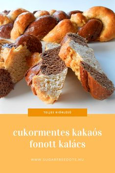 cukormentes, teljes kiőrlésű kakaós fonott kalács, húsvétre ideális jelölt a sonka és főtt tojás mellé Diabetic Recipes, Diet Recipes, Healthy Recipes, Healthy Cake, Winter Food, Food And Drink, Yummy Food, Sweets, Snacks