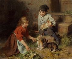 Felix Schlesinger, Feeding The Rabbits.