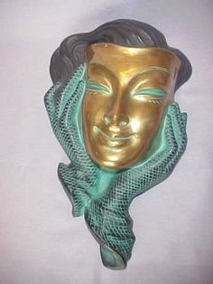Highly-Stylized-German-Cotendorf-Art-Deco-Female-Wall-Mask (please follow minkshmink on pinterest)