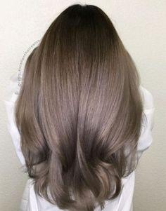 Trendy Hair Color Ash Brown Balayage Highlights - Hairstyles For All Ash Brown Hair Color, Ombre Hair Color, Light Brown Hair, Cool Hair Color, Trendy Hair Colors, Ash Brown Ombre, Cool Brown Hair, Trendy Nails, Brown Hair Balayage
