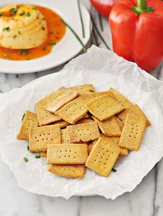 Chickpea and Polenta Homemade Crackers Recipe plus 24 more of the best gluten-free chickpea flour recipes