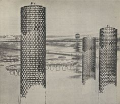 Tower-shaped Community by Kiyonori Kikutake, 1958