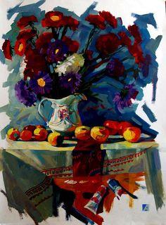 Flowers Art Abstract Still Life 30 Trendy Ideas Academic Drawing, Flower Shop Design, Rustic Art, Expressive Art, Beautiful Paintings, Cool Artwork, Flower Art, Still Life, Watercolor Art