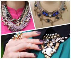 #wear only #one #statement #piece #try something #new #today #go for #more #tip of the #week How To Wear, Jewelry, Fashion, Moda, Jewlery, Jewerly, Fashion Styles, Schmuck, Jewels