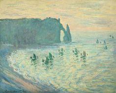 Sortie de bateaux de pêche à Etretat : Claude Monet, 1886