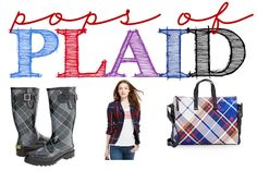 What to Wear: Pops of Plaid
