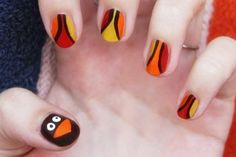Turkey nails! Good for Thanksgiving.