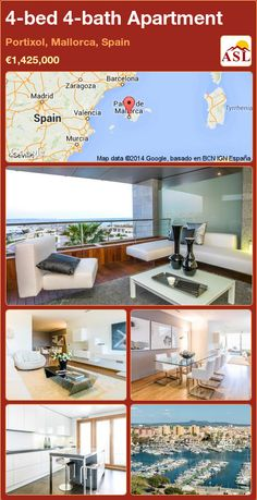 Apartment for Sale in Portixol, Mallorca, Spain with 4 bedrooms, 4 bathrooms - A Spanish Life Apartments For Sale, Luxury Apartments, Electrical Appliances, Construction Materials, Murcia, Dining Area, Laundry Room, Swimming Pools, Modern Design