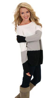Trifecta Sweater, Black :: NEW ARRIVALS :: The Blue Door Boutique