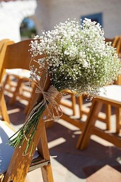 Aisle decor - baby's breath.