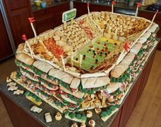 Great Super Bowl party display