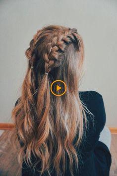 70 Super Easy DIY Frisur Ideen fr mittleres Haar An Ecemella ka . Easy Hairstyles For Medium Hair, Cute Hairstyles, Medium Hair Styles, Braided Hairstyles, Curly Hair Styles, Hairstyle Ideas, Summer Hairstyles, Black Girl Braids, Girls Braids