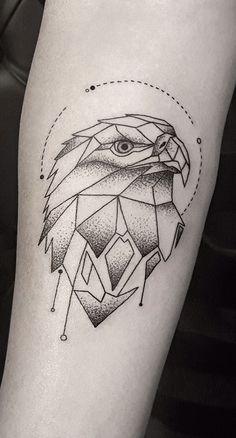 Geometric Tattoo Eagle Ideas