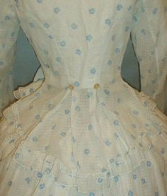 winsome 1860s 2 piece cotton floral7 | Flickr - Photo Sharing!