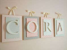 Wooden Name Sign Nursery Name Sign Nursery Wall Art Baby