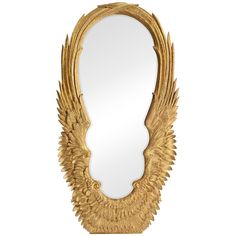 "Jonathan Charles Classical ""Winged"" Antique Floor Mirror"