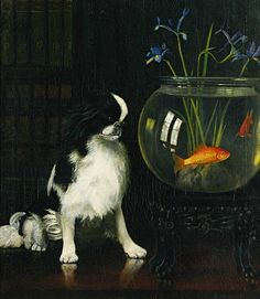 Alexander Pope Japanese Chin and Goldfish 1921