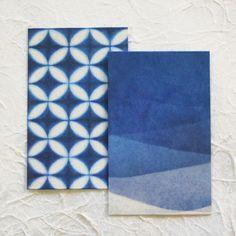 美濃和紙 藍染め風 ポチ袋|古川紙工 藍色ぽち袋 - 木乃香
