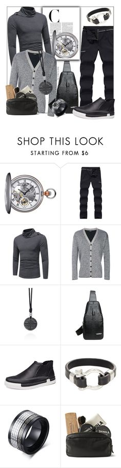 """Casual Street Attire"" by fashionchronicles365 ❤ liked on Polyvore featuring Tissot, Diesel, Belk & Co., Jean Claude, Shinola, men's fashion, menswear, StreetStyle, ootd and MensFashion"