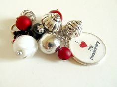 I Love My Missionary red and white changeable by AJewelryJar, $12.00