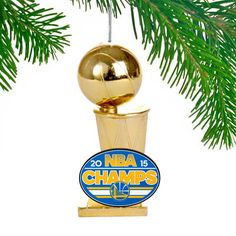 Golden State Warriors 2015 NBA Finals Champions Trophy Ornament