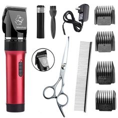 Maxshop Dog Clippers,Rechargeable Cordless Electric Pet Cat Grooming Trimming Clippers Kit ** Learn more by visiting the image link. (This is an affiliate link and I receive a commission for the sales)