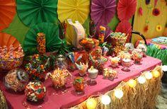 Luau Tropical Candy Buffet Bar Hawaiian