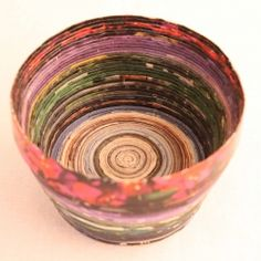 DIY: Magazine Bowl. - This will be fun and very therapeutic!! Good way to get rid of those old mags.