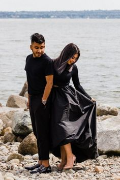 This minimalist black-and-white engagement photo shoot happened in North Vancouver. I took very strong, conceptual photos of Filza and Sameed. Engagement Photo Inspiration, Engagement Photos, Wedding Inspiration, How To Pose, Westminster, Couple Photography, Photo Sessions, Anastasia, Vancouver