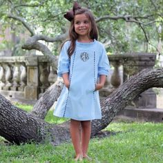 Corduroy Sophie Dress Light Blue
