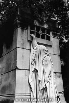 The late Simon Marsden's photo of the Raspail Family Tomb in Pere Lachaise Cemetery, Paris. Marsden's entire body of work is Derexploitation.