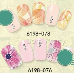 Nail-Art-Stamp-Water-Decals-Transfers-Sticker-Charming-Leaf-Floral-DIY-Pattern