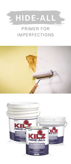 Are you looking to breathe new life into a fixer upper, older home, or damaged furniture? Stains, scratches, imperfections, and even discolored surfaces are no match for KILZ Hide-All Primer. For every home decor project and DIY furniture makeover, start with a quality primer.