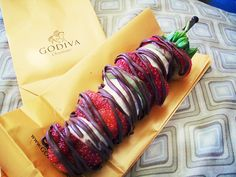 Chocolate fruit kebabs...