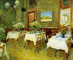 Vincent Van Gogh  Dutch Painter (Post-Impressionism)  1853-1890      Interior of a Restaurant, 1887     (Kröller-Müller Museum, Amsterdam, Netherlands)