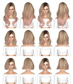 Skysims 248 long medium and short hairstyle retextured by July Kapo for Sims 3 - Sims Hairs - http://simshairs.com/skysims-248-long-medium-and-short-hairstyle-retextured-by-july-kapo/