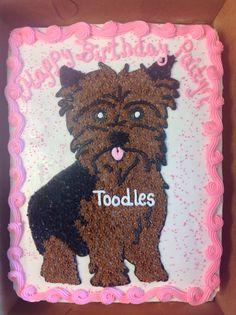 Yorkie Dog Cake by smokwa CakesDecorcom cake decorating