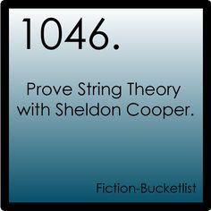 Fiction-Bucketlist - The Big Bang Theory