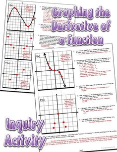 Guided inquiry activity - Students use a straightedge and learn to graph the derivative of a function. They draw conclusions about the degree of the function and investigate second derivatives.