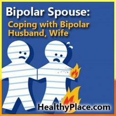 Having a spouse with bipolar can be challenging. Here are techniques for coping with bipolar spouses. Mental Health Issues, Mental Health Awareness, Bipolar Depression Treatment, Bipolar Symptoms, Bipolar Awareness, Living With Bipolar Disorder, Bipolar Disorder Facts, Borderline Personality Disorder, Fibromyalgia