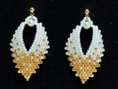Russian Leaf Earrings TUTORIAL done in brick by BeadAndBowtique