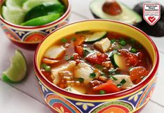 Recipe for Sopa De Pollo a la Mexicana - Mexican Chicken Soup from the diabetic recipe archive at Diabetic Gourmet Magazine with nutritional info for diabetes meal planning. Diabetic Soups, Diabetic Meal Plan, Diabetic Recipes, Low Carb Recipes, Chicken Soup Recipes, Healthy Soup Recipes, Delicious Recipes, Diabetes, Gourmet
