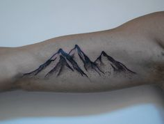 Mountains Tattoo On Sleeve