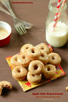 Apple Cider Baked Donuts with Maple Glaze...Welcome Fall with a Little Piece of Heaven!!! Wanna eat this now baby...!! :)