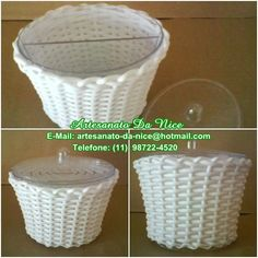 Kit Higiêne Bebê-Porta algodão com divisória para cotonete