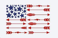 American Flag Arrow Decal, Monogram Arrow decal, Personalized Arrow Decal, Flag Arrow Sticker, Vinyl Decal, Car Decal, Car Sticker by BrownEyedCuties on Etsy