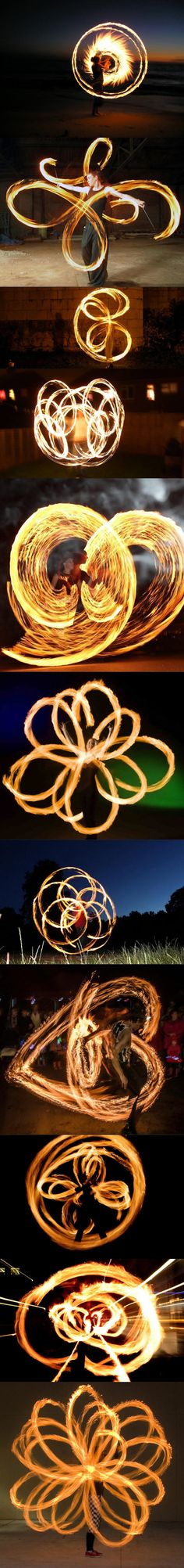 This is what it looks like when you juggle with fire and take long-exposure photos.